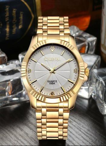 64655100184 Relógio masculino chenxi banhado à ouro (aceitamos cartões de crédito e  débito)