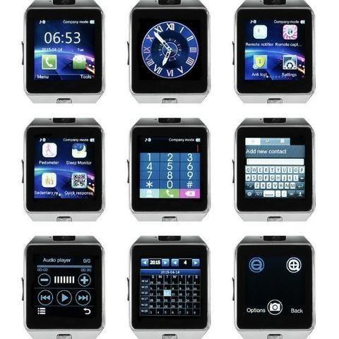 595169f9fcc Smartwatch DZ09 com câmera e faz ligações (Novo + Caixa + Garantia) Cartão  até 10x