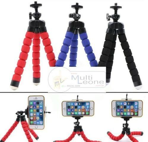 Mini Tripé Flexível + Suporte p/ Celular Gopro Câmera Universal - Foto 5