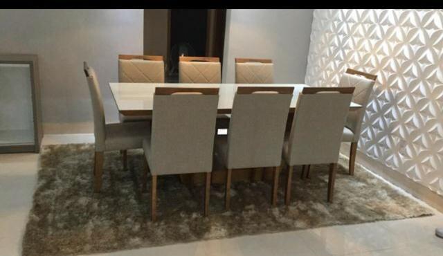 Mesa de jantar Nova Deli oito lugares - Foto 4