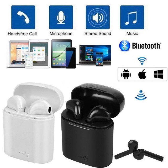 Fone de ouvido i7 tws i7s mini, wireless, bluetooth, headset, com caixa carregadora