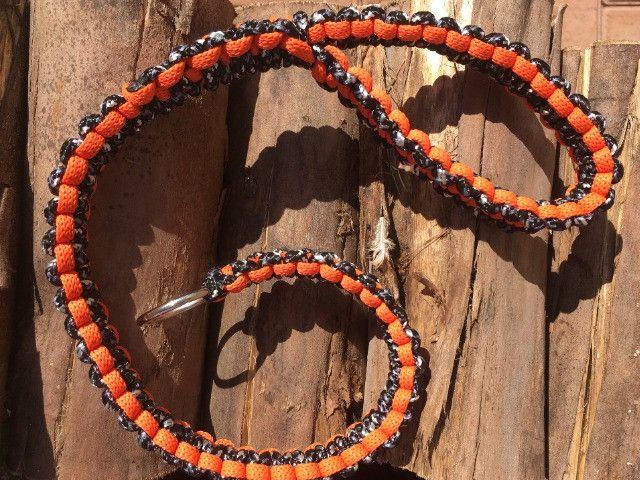 Guias e coleiras de corda artesanal - Foto 4