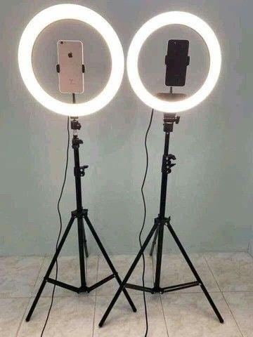 Ring Light Led Completo Iluminador Portátil 26cm Tripé 360º - Foto 4