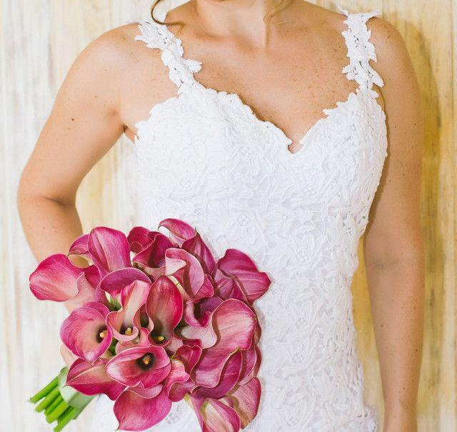 Vestido de noiva todo em renda Gripir usado 2x - Foto 3