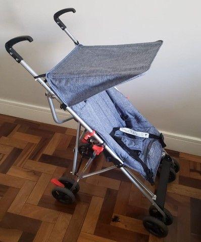 Carrinho de Passeio com Guarda-Chuva Pocket Multikids Baby Azul  - Foto 2
