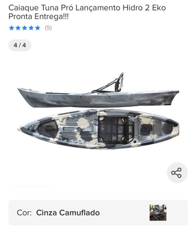 Caiaque tuna pro hidro 2 eko pesca pescaria