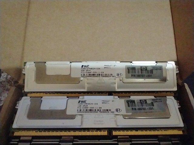 Memórias para servidor DDR2 1GB e 2 GB com dissipador - Foto 3
