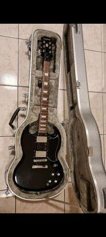 BAIXEI!!  Guitarra EpiPhone Sg G400 + Case Top! - Foto 3