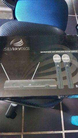 Microfone duplo vhf novo