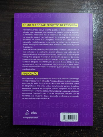 Como Elaborar Projetos de Pesquisa - 6ª edição - Foto 3