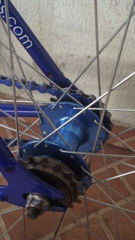 Bike roda-fixa Create azul - Foto 5