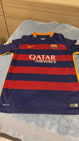 Camisa Barcelona (2016) Oficial (Tamanho G INFANTIL)