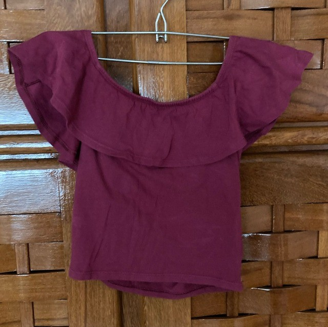 blusa vinho ombro a ombro da cea