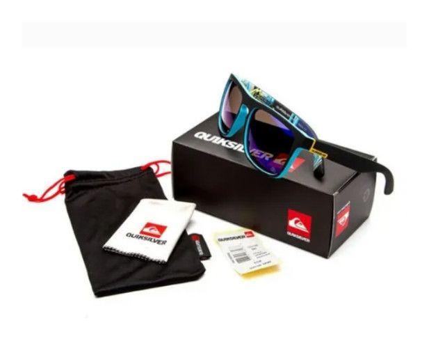 Óculos De Sol Quiksilver Com Proteção Uv400 + Bag + Flanela - Foto 4