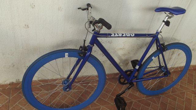 Bike roda-fixa Create azul