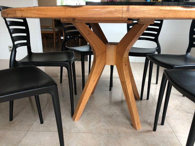 Mesa em madeira Peroba redonda - Foto 3