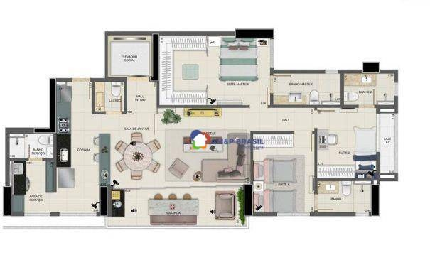Apartamento com 3 dormitórios à venda, 125 m² por R$ 910.000,00 - Setor Marista - Goiânia/ - Foto 15