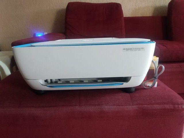 Impressora HP multifuncional com bulk já instalado - Foto 4