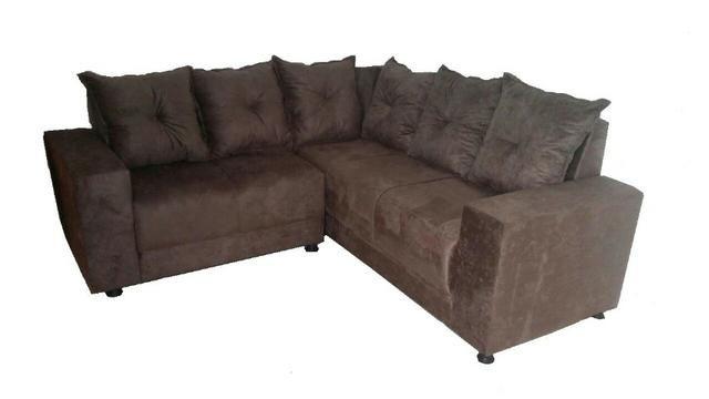 Promoção De Sofa De Canto Com Almofadas