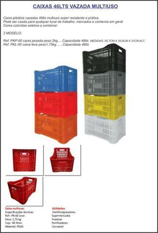 Caixas vazadas 46lts multiuso-caixas de mercado uso em geral
