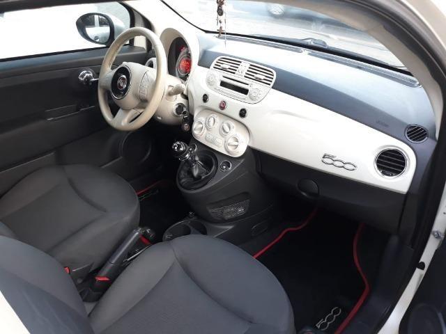 Fiat 500 Perola!! Financio Sem Ent. nao ka c3 onix 208 kwid up hb20 cooper mobi uno gol - Foto 10