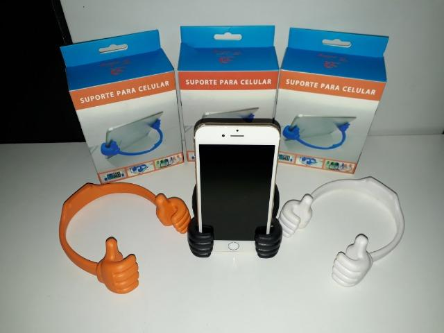 Suporte De Mesa Mãozinha P/ Smartphone, Tablet, Ipad - Foto 3