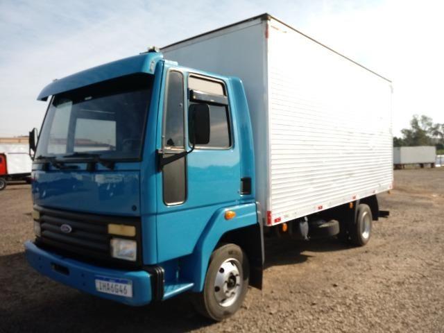 Ford/Cargo 814 1998 C/Baú Motor Novo