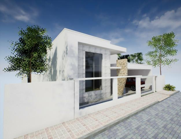 Casa nova 3suítes churrasqueira ofurô rua 10 Vicente Pires condomínio fechado - Foto 4
