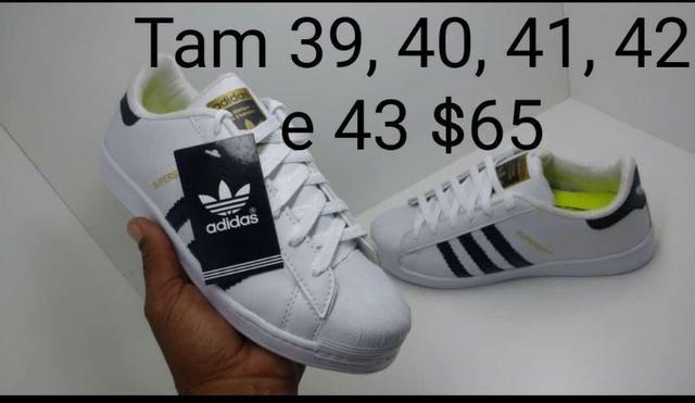 6da2035118 Tenis superstar preto branco apenas  65