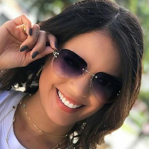 Óculos de sol sem aro fendi