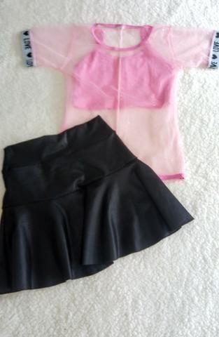Conjunto saia e blusa Tam 10 novo - Foto 2