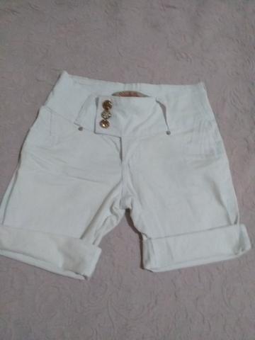 Short branco jeans Tam 40