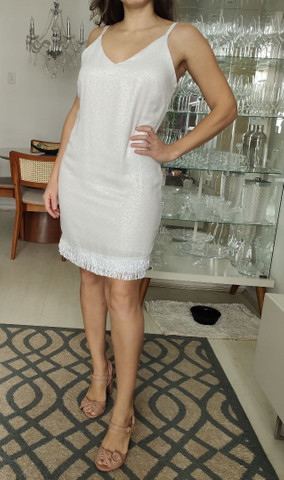 Vestido branco com franjas - Foto 3