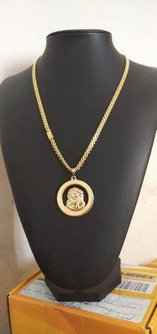 Correntes de fino acabamento banhadas a ouro 18k idêntico a ouro maciço - Foto 3