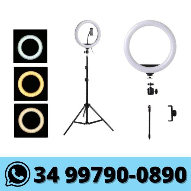 Ring Light 10 Polegadas c/ Suporte Celular e Tripé 2 metros