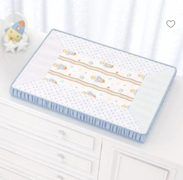Kit Quarto de bebê (Trocadores ,Abajur, potes e bandejas, 2 porta fraldas - Foto 6