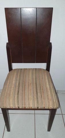 Cadeiras de madeira 6 unidades
