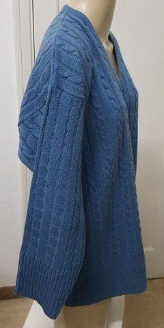 Blusão unissex azul G - Foto 3