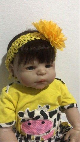 Boneca Bebê Reborn - seminova - Foto 3