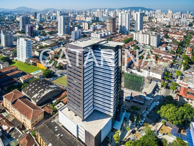 Sala Comercial 52 mts- Santos - SP - 2 vagas  - R$  261.058,66