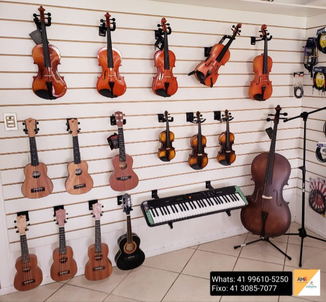 Violinos, Violas, Cellos, Ukuleles, Cavaquinhos