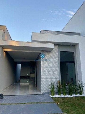 Belíssima Casa Térrea Moderna,Valor R$ 395.000,00, jardim  Mariliza, Goiânia  Há Poucos Mi - Foto 2