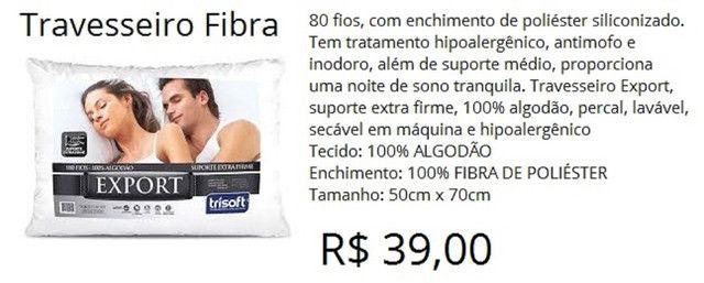 Travesseiro export extra firme 180 fios 100% algodão - a pronta entrega