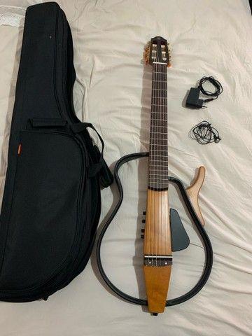 Violão Yamaha aberto elétrico silent SLG200NW Nylon - Foto 2