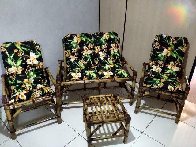 Jogos completos cadeiras de bambu 1 linha  - Foto 5