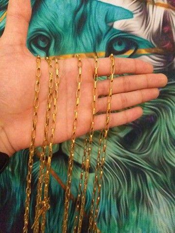 Corrente de moeda antiga, pulseira idêntica à cor do ouro Banho eterno
