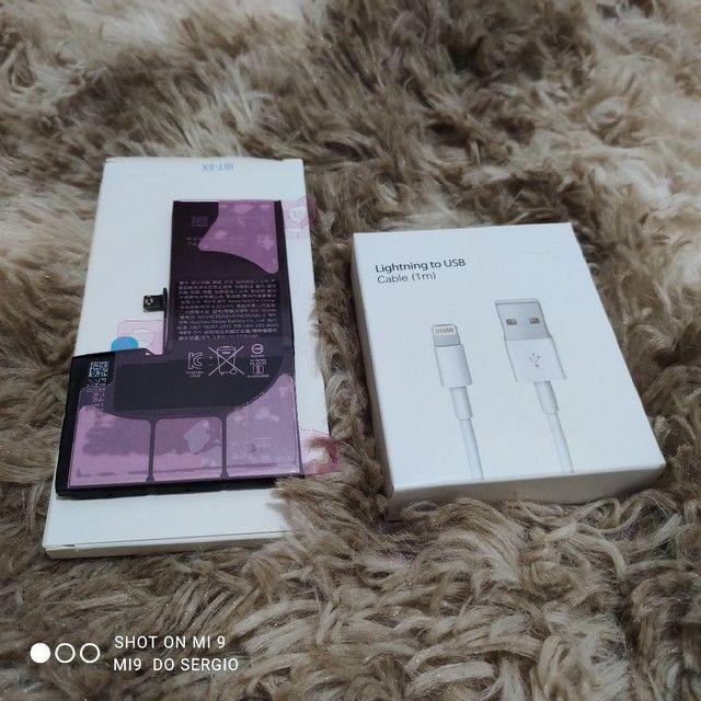 BATERIA para iPhone X + cabo lightning de alta qualidade - Foto 4