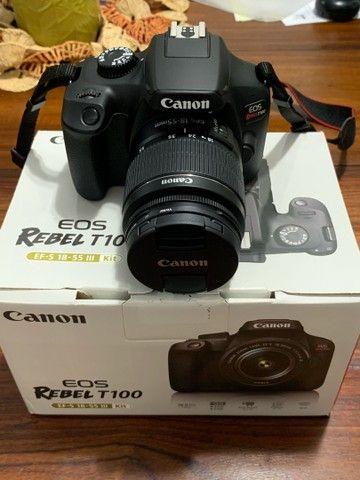 Camera Canon EOS Rebel T100 EF-S 18-55 III Kit (Nova) - Foto 3