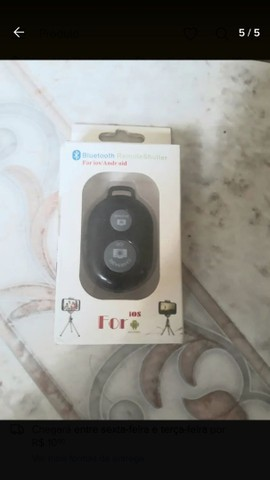 Kit pau de selfie bastão monopod+ controle suporte para celular  - Foto 2