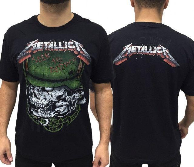 Camiseta Metallica - Camisetas Oficiais Licenciadas - Foto 6